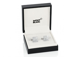 New Mont Blanc Iconic Line Mystery Square Silver Cufflinks 111316 £235