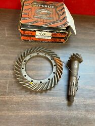 1933-36 Plymouth Dodge 10 Spline 8-33 Ring And Pinion Gears Nos 621