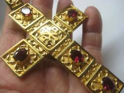 Pectoral Cross for Bishops and Priest Gold plated over brass 320Red $126.90