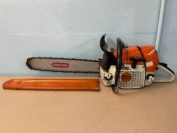 Stihl Ms 461 Ms461 Professional Powered Gas Chainsaw W/ 20 Chain And Bar + Cover