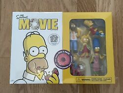 Brand New Sealed The Simpsons Movie Dvd + Family Action Figures Rare Collectible