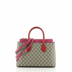 Linea A Convertible Tote Gg Coated Canvas Small