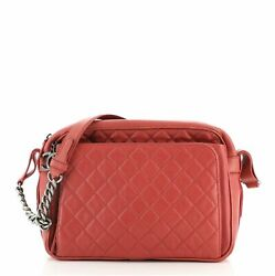 Business Trip Camera Bag Quilted Caviar Large