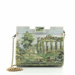Fendi Couture Ff Frame Chain Clutch Resin Small