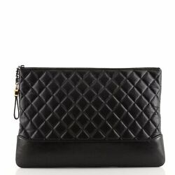 Gabrielle O Case Clutch Quilted Aged Calfskin Large