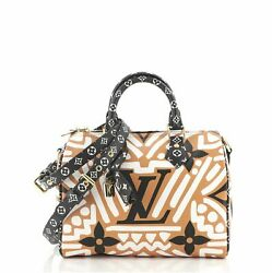 Louis Vuitton Speedy Bandouliere Bag Limited Edition Crafty Monogram Giant 25