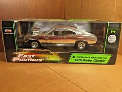 118 Silver Ertl Joyride The Fast And The Furious 1970 Dodge Charger Vin Diesel