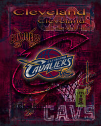 Cleveland Cavaliers Poster, Cleveland Cavs Basketball Print Free Shipping Us
