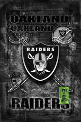 Oakland Raiders 12x18in Poster, Oakland Raiders Free Shipping Us