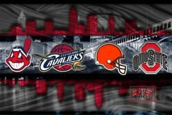 Ohio Sports 16x20in Poster Cleveland Ohio Cavaliers Browns Indians Osu Free Ship