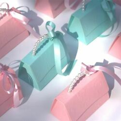10pcs/lot Portable Party Wedding Favor Gift Boxes Chocolate Treat Candy Gift Bag
