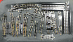 Ho Atlas Tyco Track Mixed Lot 26 Pcs. Curved, Crossing, Bridge, Switch And Bumpers