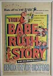 """1948 Vintage Movie Poster """"the Babe Ruth Story"""" New York Yankees Framed Beauty"""