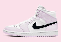 Nike Womenand039s Air Jordan 1 Mid Shoes Light Violet Barely Rose Bq6472-500 New