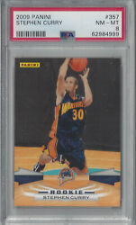 2009 Panini Stephen Curry Rookie Rc 357 Psa 8 Nm-mint Golden State Warriors