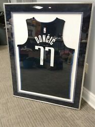Luka Doncic Autographed And Framed Authentic Jersey