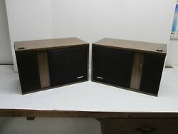 Pair Bose 301 Series I Speakers Refoamed Woofers Very Nice Cabinets