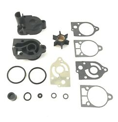 Water Pump Impeller Kit With Base And Housing For Mercury 46-77177a3 18-3324