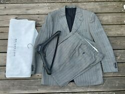 Versace Men Suit Two Piece Pant And Coat Made In Italy Size 58r Read Description