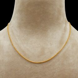 22k Yellow Gold Chain Necklace Party Wear Jewelry, Vj-9792