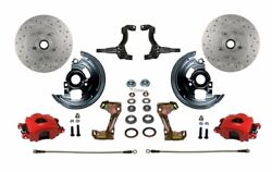Leed Brakes Rfc1006-3a3x Front Disc Brake Kit W/stock Height Spindles Gm Chevy I