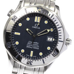 Auth Omega Watch Seamaster 300 Date 2532.80 Automatic Ss Navy Case41mm Arm17cm