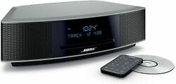 Bose Wave Music System Iv W/cd Player Alarm Clock And Remote Platinum Silver
