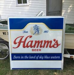 Vintage Hammandrsquos Beer Sign Large 5andrsquo X 5andrsquo No Frame Or Lights Local Pu Or Freight