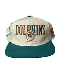 New Vintage Miami Dolphins Sports Specialties White Dome Laser Pro Line Nfl Hat