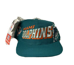 New Vintage Miami Dolphins Sports Specialties Grid Blue Teal Snapback Nfl Hat