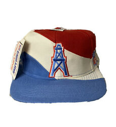 New Vintage Houston Oilers Nfl Apex One Wrap Around Back Spell Out Snapback Hat