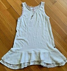 Matilda Jane Girls Size 10 Nwt Thatched Roof Top Extender White Tank