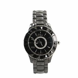 Christian Dior Christal Viii Quartz Watch Ceramic And Stainless Steel With