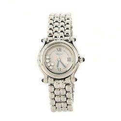 Chopard Happy Sport Classic Round Quartz Watch Stainless Steel With Floating