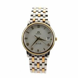 Omega De Ville Prestige Quartz Watch Stainless Steel And Yellow Gold 34