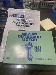 Nissan Outboard Motor Ns 50/60/70 Operating Manual M-243-a Pb 1986