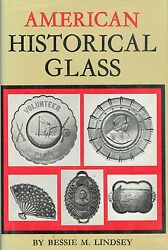 Antique American Historical Pressed Glass + Bottles - Patterns / Scarce Book