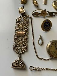 Lot Of Victorian Gold Filled Jewelry Earring Pins Brooches Pendants 141.1 Grams