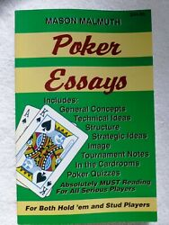 Mason Malmuth Poker Essays For Both Holdand039em And Stud Players Poker Strategy
