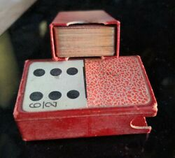 Rare Gold Trim Antique Vintage 73 Card Dominoes Small Size Us Playing Card Co