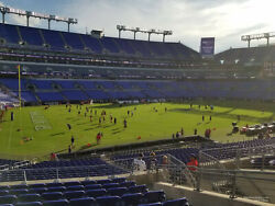 2 Baltimore Ravens Lower Level Season Tickets - Sec 105 Row 12, Seats 11and12