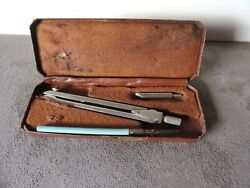 Antique Wedoco Draftsman Tools Drawing Set Compass Engineering Made In England