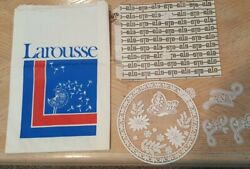 Larousse Paper Shopping Bags Gift Shop Vintage With Doilies