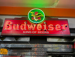 Budweiser Neon Sign  Awsome 6' Sign  New Transformer  Local Only