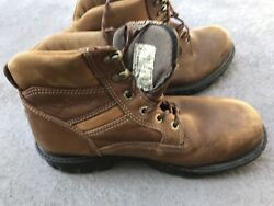 Wolverine Multishox Leather Work / Hunting Boots Menand039s 11 Eu 44 Good Used Pair