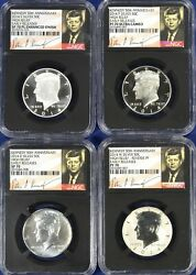 2014 Kennedy Silver 50c 4-coin High Relief Set Each Ngc 70 - Early Releases