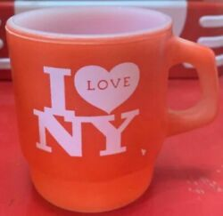 Fire-king I Love Ny Mug Cup New York State Tourism Campaign From Japan F/s