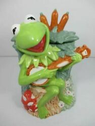 The Muppets Kermit Treasure Craft Cookie Jar Pottery Henson From Japan F/s
