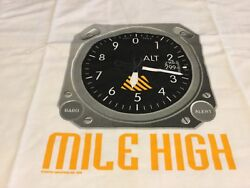 Pilots T-shirt Mile High. Xl Lg Or Med. White Round Collar 100 Cotton