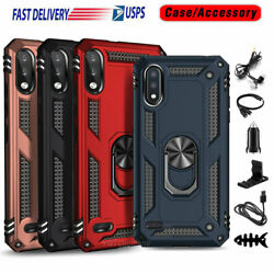 For Lg K22/k22 Plus/k32 Case Shockproof Hybrid Ring Stand Phone Cover +accessory